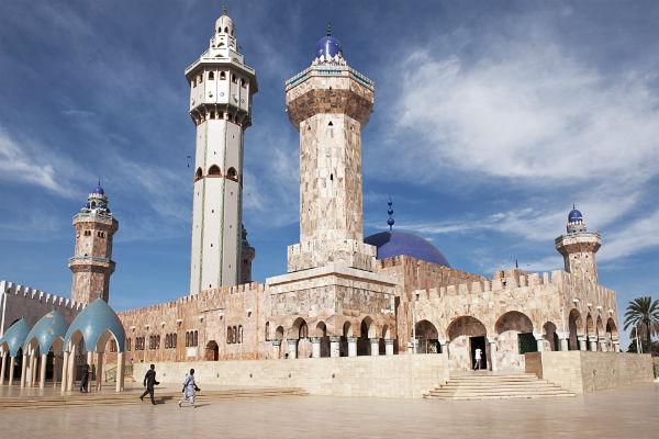 La grande mosquée de Touba, au Sénégal.