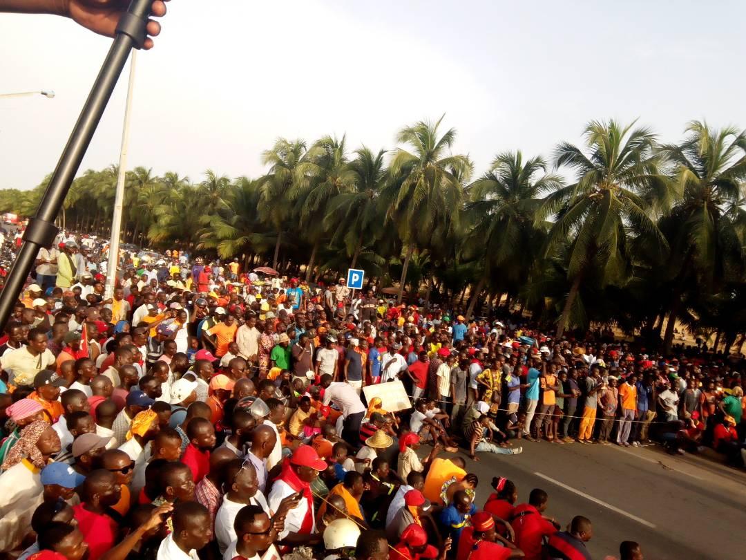 Rassemblement de l'opposition à Lomé, le 7 novembre 2017.
