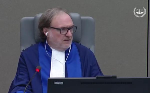 Cuno Jacob Tarfuser, le juge qui préside le procès de Laurent Gbagbo et Charles Blé Goudé à la CPI., lors de l'audience du 9 novembre 2017.