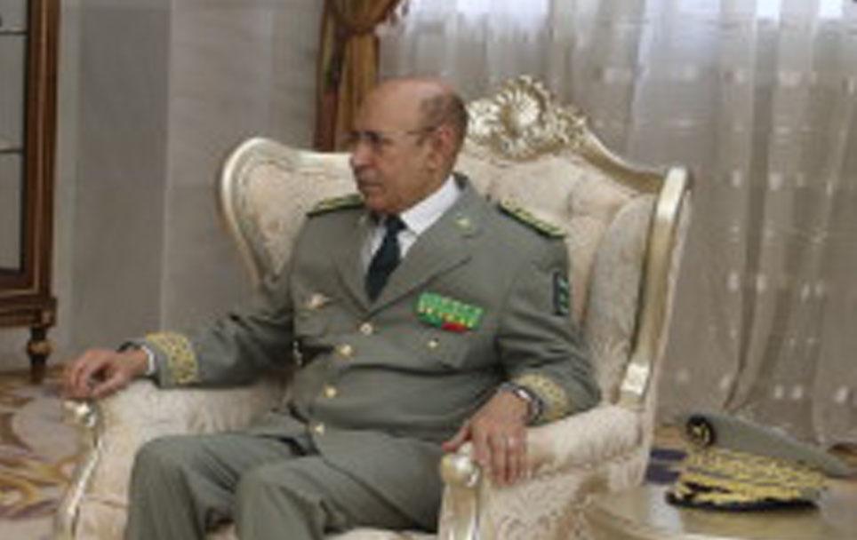 Le chef d'état-major des armées, le général de division, Mohamed Ould Cheikh Mohamed Ahmed, au palais présidentiel le 19 juillet 2017.
