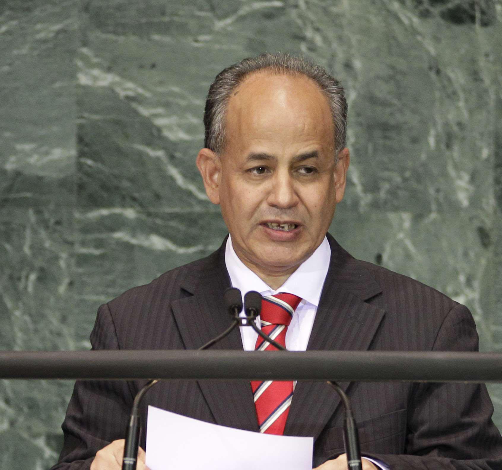 Moulaye Ould Mohamed Laghdaf, alors premier ministre, au siège de l'ONU, le 21 septembre 2010.