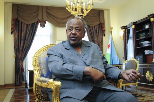 Ismaïl Omar Guelleh, président de la République de Djibouti, au palais présidentiel lors d'une interview accordée à JA en mars 2017.