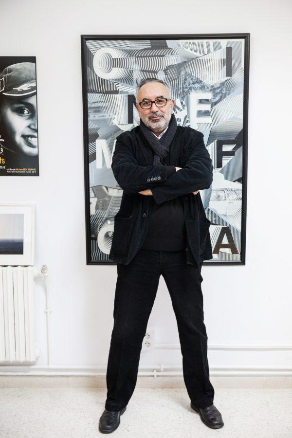 Hichem Ben Ammar, producteur et réalisateur, directeur de la Cinémathèque tunisienne.