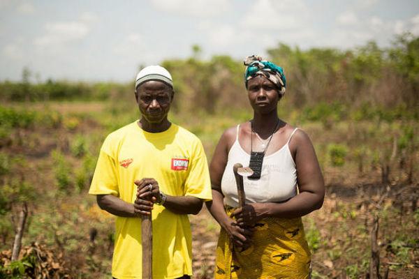 Après Ebola, la famille Yaugaré s'est réinstallée sur ses terres à Forécariah avec l'aide de l'Unicef.
