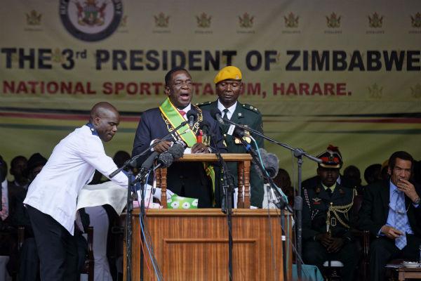 Premier discours d'Emmerson Mnangagwa en tant que président du Zimbabwe.
