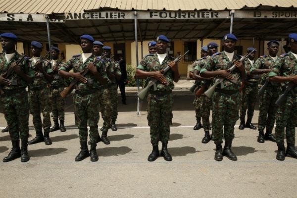 Des soldats ivoiriens à Abidjan, en mai 2014.