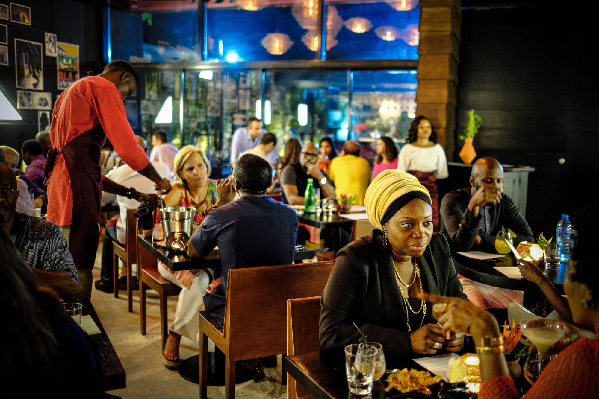 Au Nok, le restaurantprisé du chef sénégalais Pierre Thiam, dans le quartier de Victorian Island.