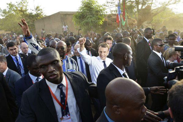 Emmanuel Macron à Ouagadougou, le 28 novembe 2017.