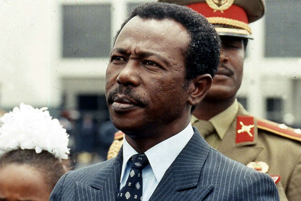 Mengistu Haile Mariam, en 1990, lorsqu'il était encore président de l'Éthiopie. (Archives)