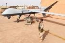 Un des Reaper de l'opération Barkhane jusqu'ici utilisés pour la surveillance et le renseignement (ici à Niamey, en 2016).