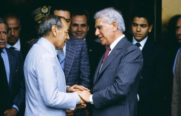 Le président Chadli et le souverain chérifien, le 10juin 1988, à Zeralda.