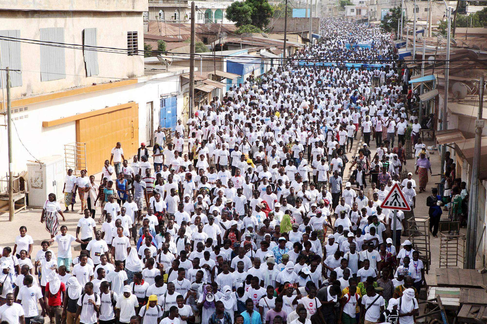 Marche organisée par le parti présidentiel (UNIR), le 20 septembre 2017, en soutien à Faure Gnassingbé.