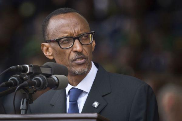 Le président rwandais Paul Kagame, lors des commémorations du génocide des Tutsis au Rwanda, en 2014 à Kigali.