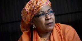 La ministre nigérienne Aichatou Boulama Kané le 12 décembre 2017 à Paris