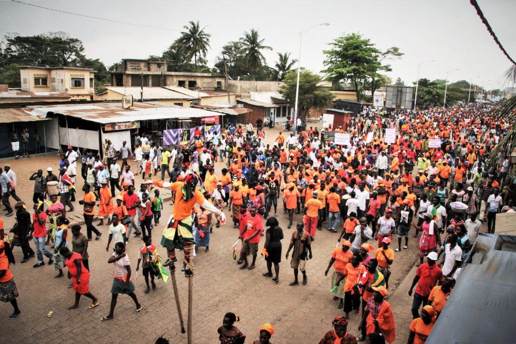 Partisans de l'opposition dans les rues de la capitale, le 4octobre 2017.