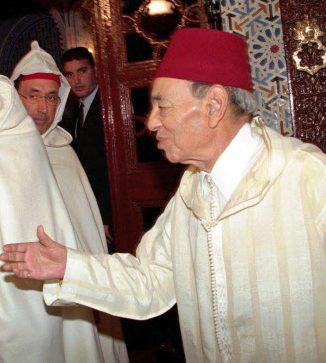 Hassan II, alors roi du Maroc, ici en janvier 1998