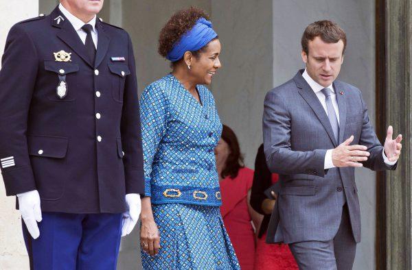 Le 31juillet 2017, Michaelle Jean était reçue par Emmanuel Macron à l'Elysée.