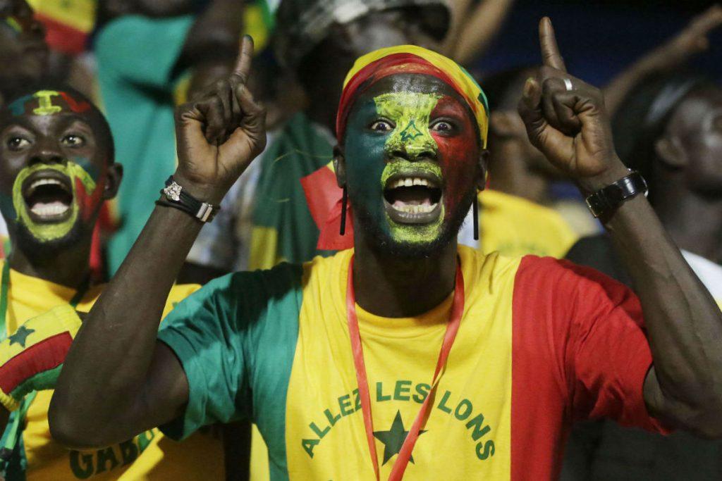 Lors du match Sénégal - Zimbabwe, à Libreville, en janvier 2017.