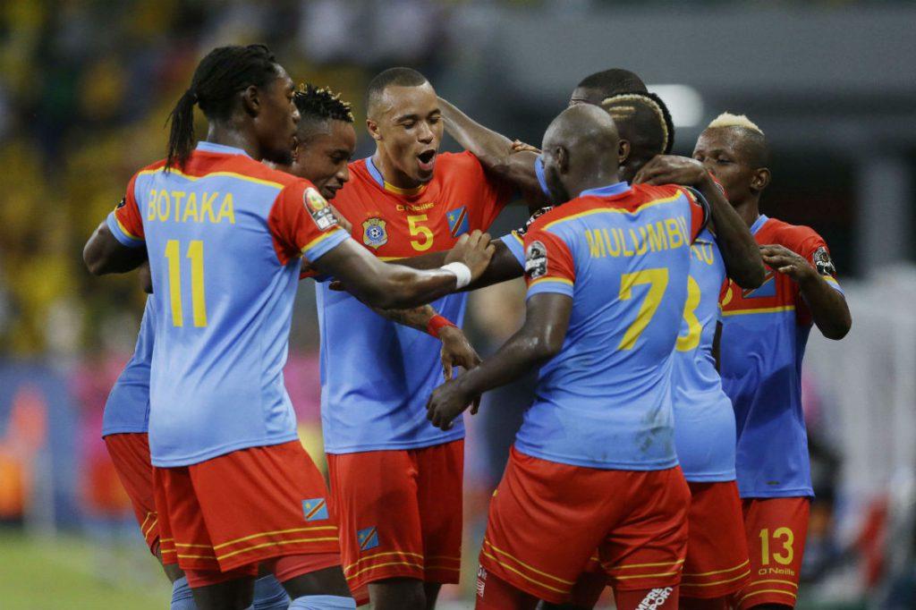 L'équipe nationale de la RDC lors du match face au Togo, le 24 janvier 2017.