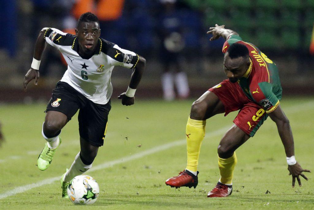 Le Ghanéen Afriyie Acquah lors du match face au Cameroun, à Libreville le 2 février 2017.
