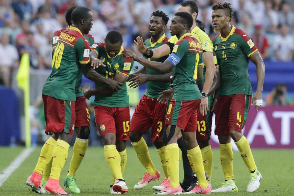 Lors du match Cameroun - Allemagne, le 25 juin 2017.