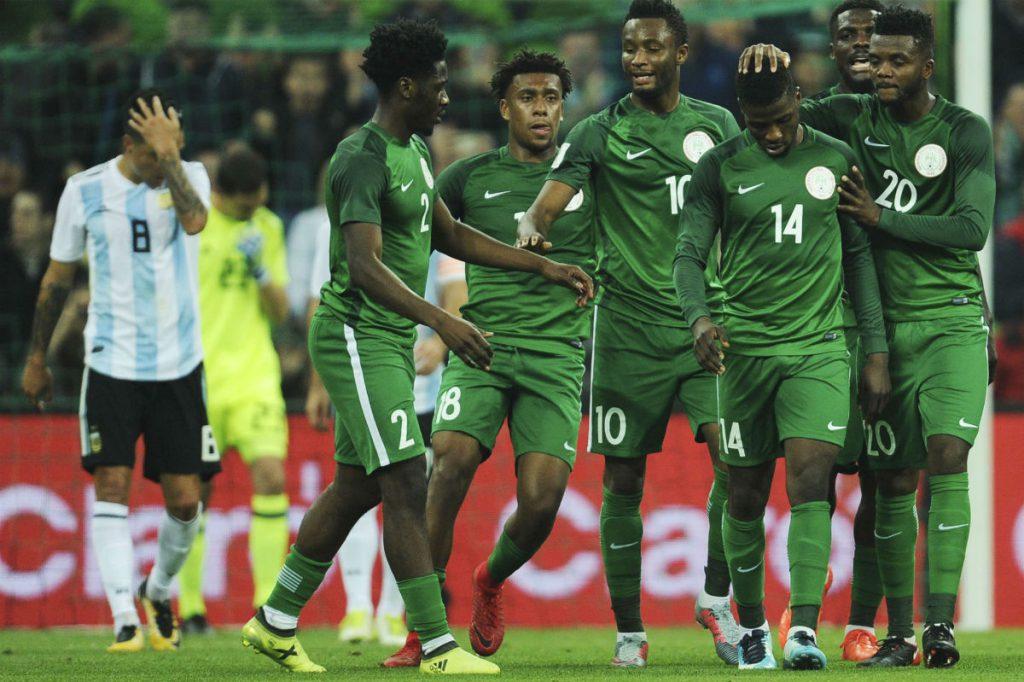 L'équipe nigériane lors d'un match face à l'Argentine, le 14 novembre 2017.