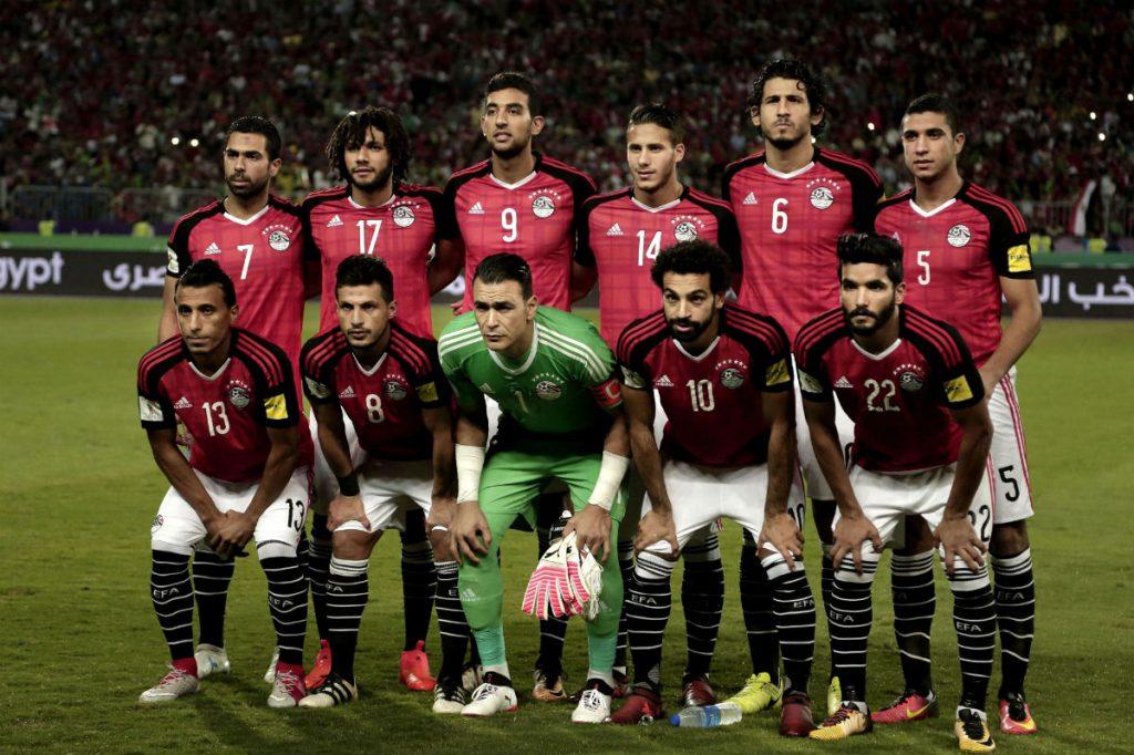 L'équipe national égyptienne, le 8 octobre 2017.