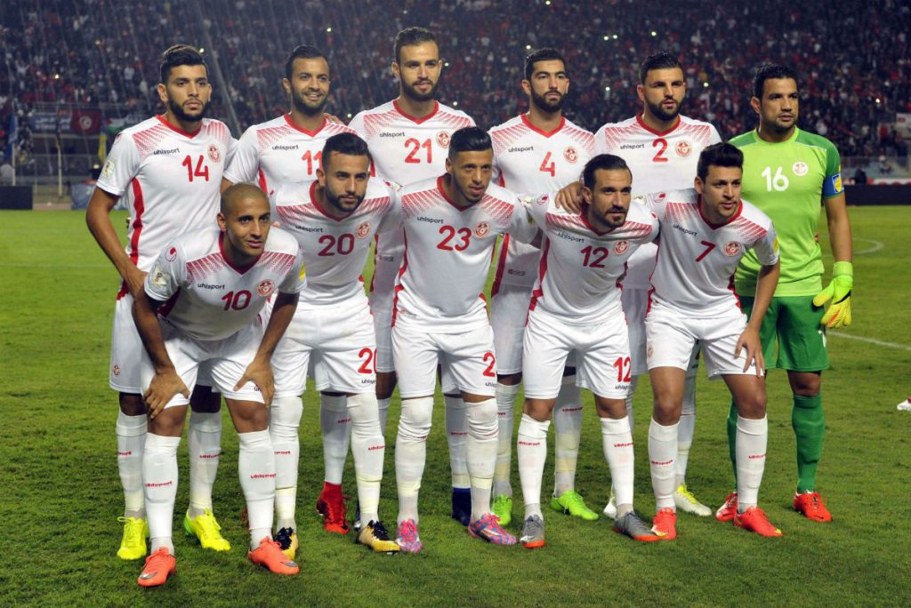 L'équipe tunisienne, le 11 novembre 2017 à Tunis, face à la Libye.