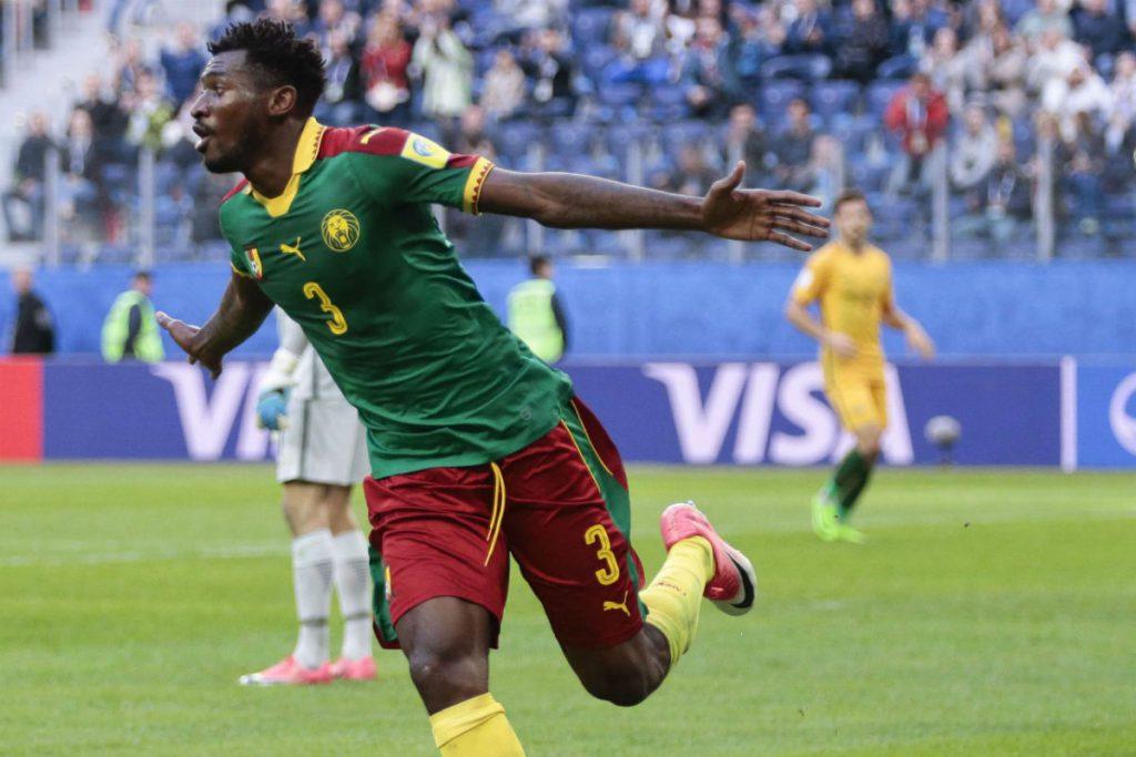 Le Camerounais Andre Frank Zambo Anguissa, lors du match face à l'Autralie, en Russie, le 22 juin 2017.
