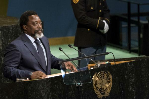 Joseph Kabila, président de la RDC, à la tribune des Nations unies le 23 septembre 2017.