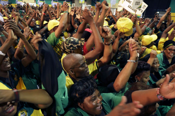 le 16 décembre, à Johannesburg, lors de l'ouverture du congrès de l'ANC qui a conduit à l'élection de Cyril Ramaphosa.