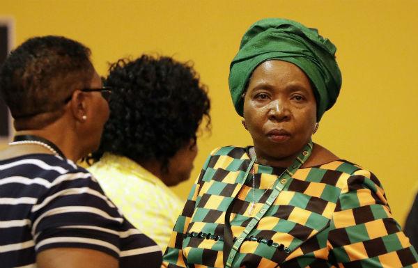Nkosazana Dlamini-Zuma lors du congrès de l'ANC à Johannesburg, le 18 décembre 2017.