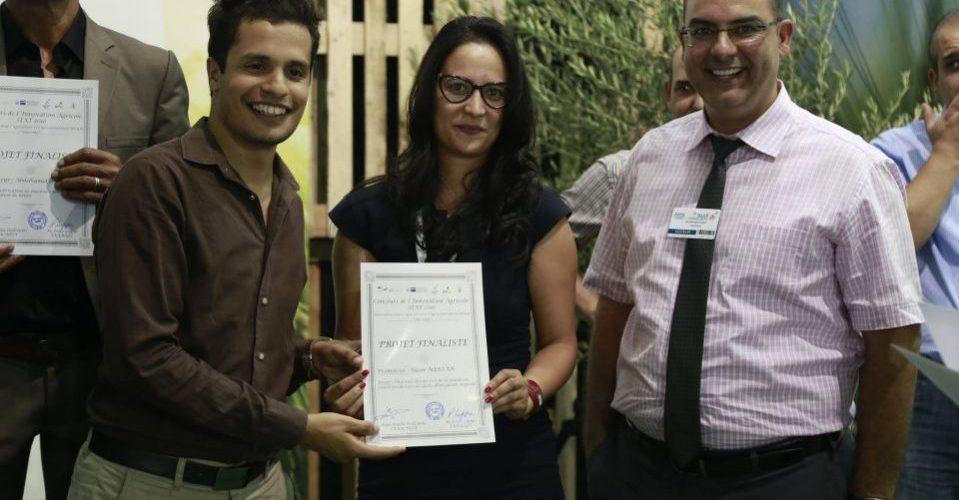 Lors de la sélection de Phyt'Eau comme finaliste du Concours de l'innovation agricole réalisé par APIA et la GIZ-Tunisie.