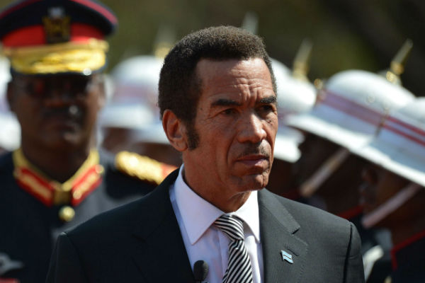 Le président du Botswana, Seretse Khama Ian Khama.