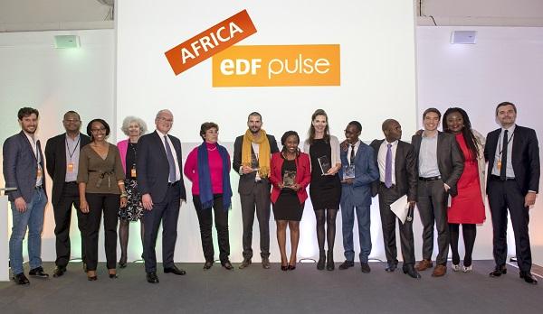 Remise des prix du premier concours EDF Pulse Africa.