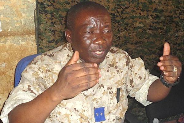 Henri Wanzet, ministre centrafricain de la Sécurité.