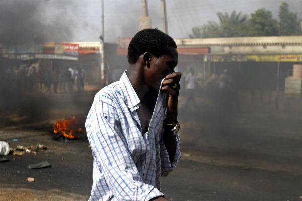 Lors des manifestations de 2013 à Kadro, près de Khartoum.