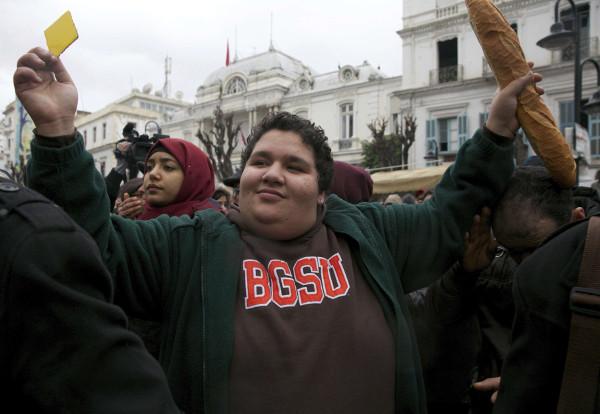 """""""Le peuple veut l'annulation de la loi de Finances"""" ont scandé les manifestants."""