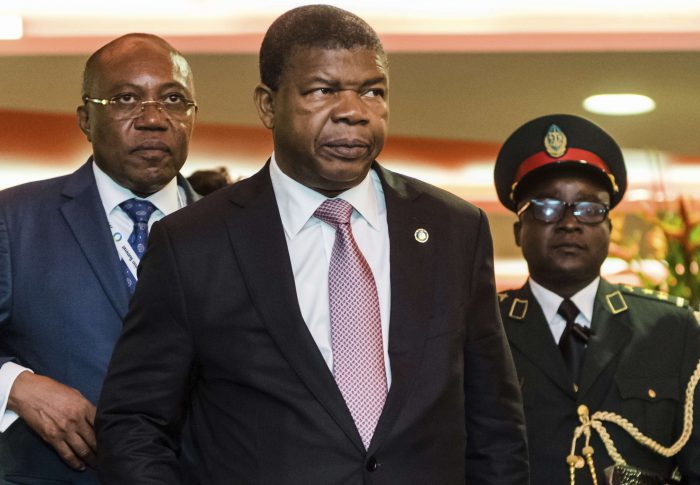 Le président angolais João Lourenço à Abidjan pour le sommet Union européenne - Afrique, le 29 novembre 2017.