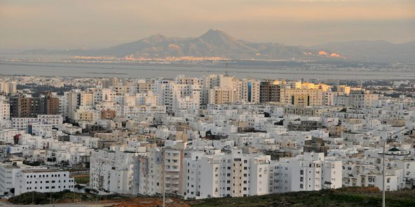 Tunis, vue d'ensemble.