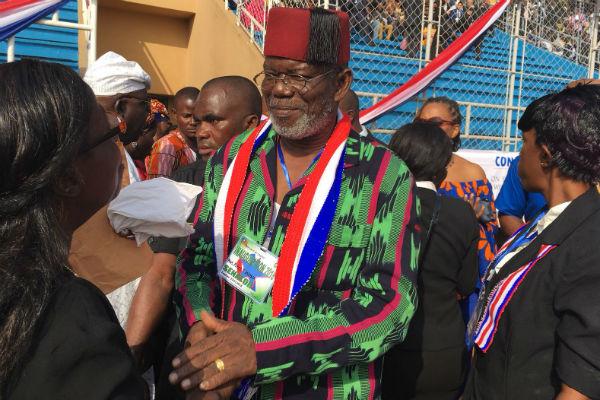 l'ancien chef de guerre Prince Johnson, soutient de Weah à la présidentielle, lors de l'investiture du nouveau président du Liberia.