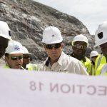 Mark Bristow, patron de Randgold, sur la mine d'or de Gounkoto, au Mali, en novembre2013.