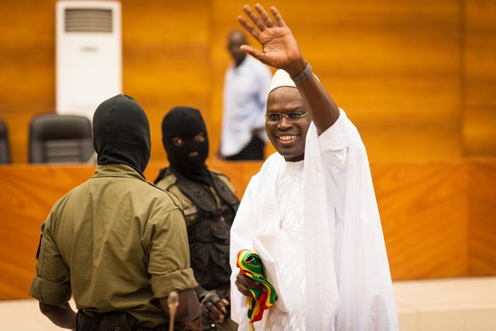 Khalifa Sall, député et maire de Dakar, lors de l'audience du 3 janvier au palais de justice de Dakar.