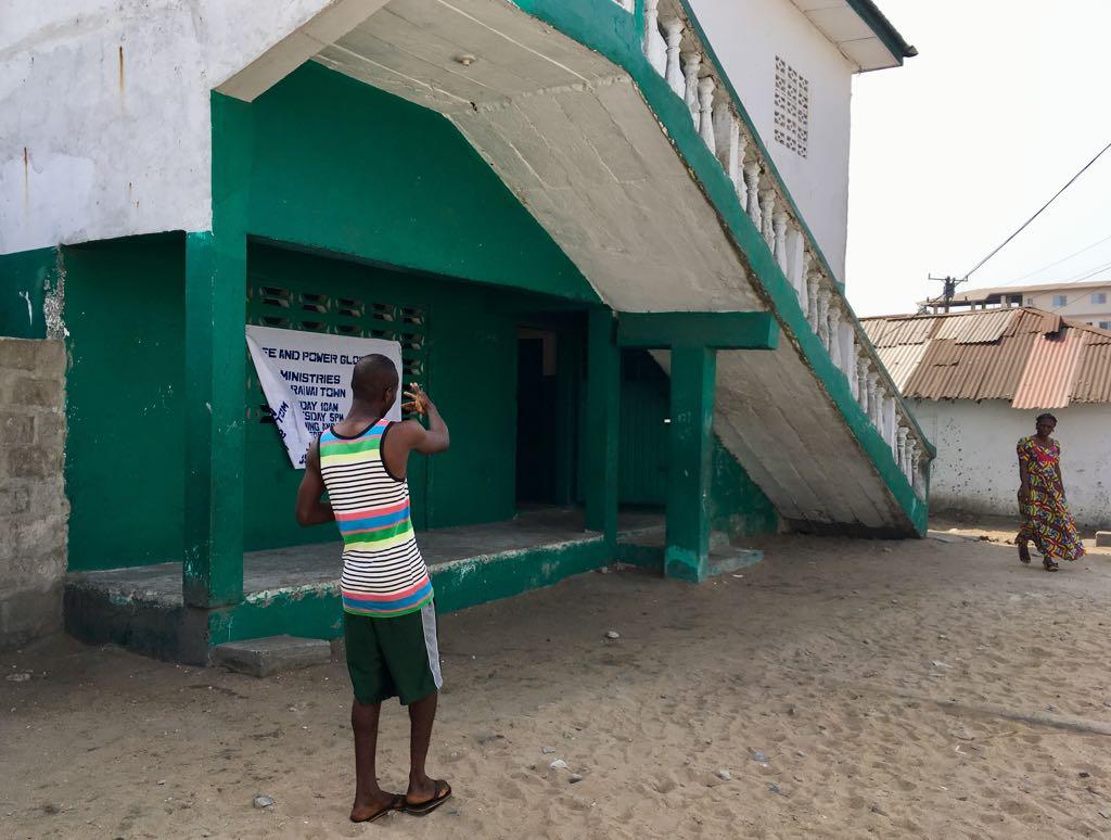 L'école du quartier de Gibraltar, à Monrovia, où George Weah a fait ses premières classes.