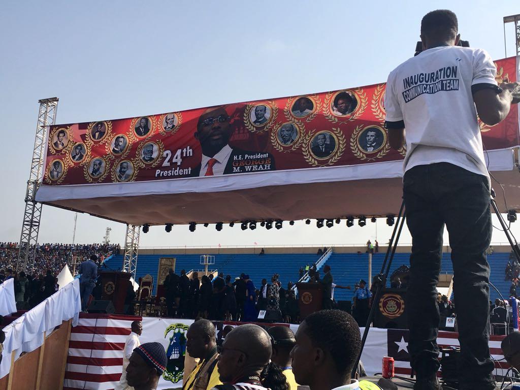 Le jour de l'investiture de George Weah, à Monrovia, le 22 janvier 2018.