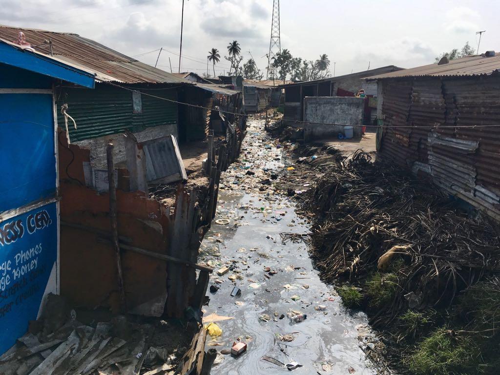 A Monrovia, la majeure partie des quartiers est dans un état d'insalubrité chronique.
