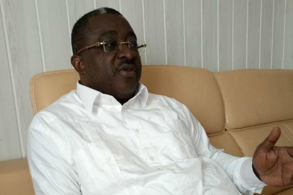 Me Salif Kébé, président de la Ceni de Guinée Conakry, le 30 janvier 2018.