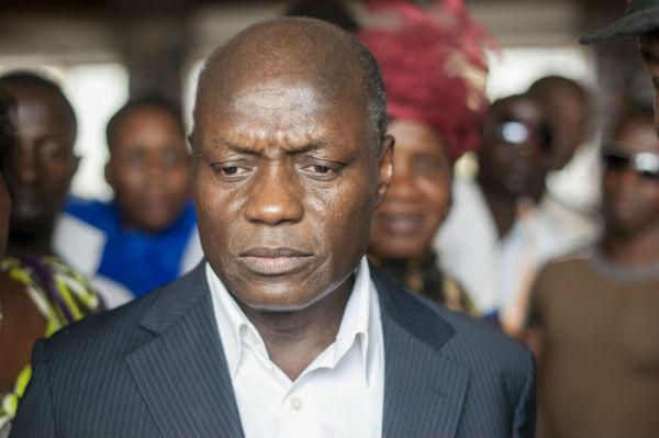 José Mário Vaz au siège du Parti Africain de l'Indépendance de Guinée et Cap Vert, le 3 mars 2014.
