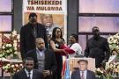 Les Congolais de la diaspora rendent un dernier hommage à l'opposant Étienne Tshisekedi à Bruxelles, le 5 février 2017.