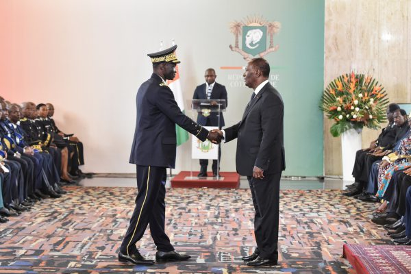 Avec le président Alassane Ouattara, le 4janvier.